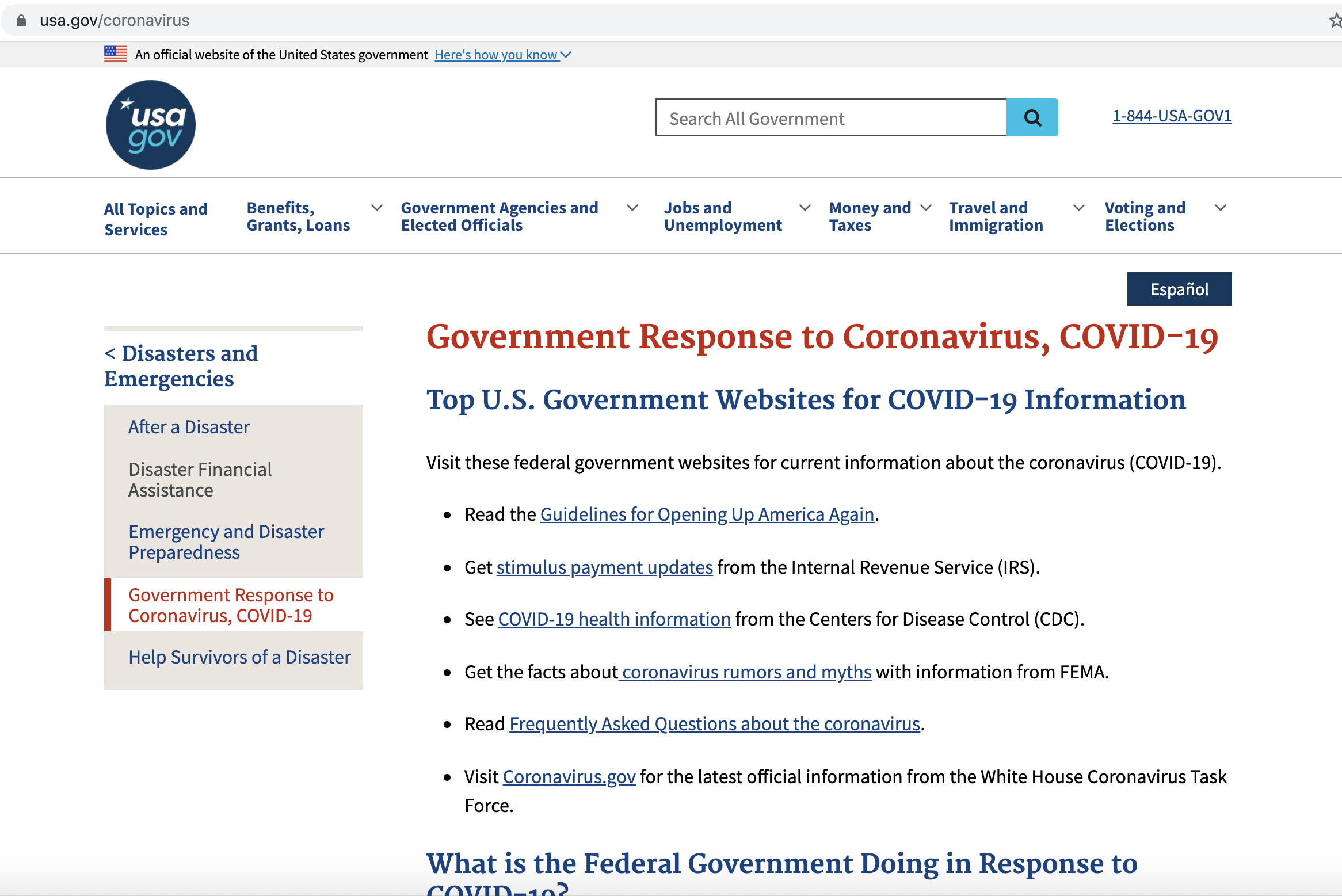 How USA.gov Is Making Its COVID-19 Content Easier to Find