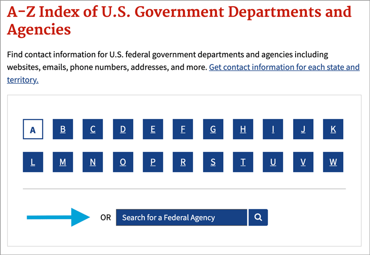 Making It Easier for People to Find Federal Agencies