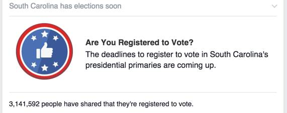 FB voter reg